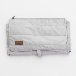Nicki nappy bag - light grey denim