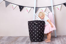 Load image into Gallery viewer, Laundry basket - shiny star black