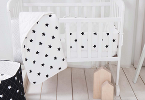 Bassinet Bumper - shiny star black