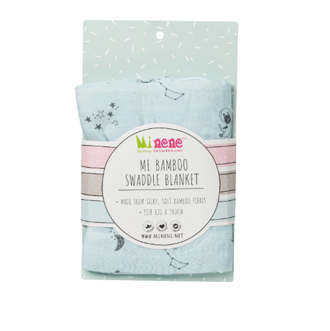 Bamboo Muslin Swaddle Blanket - Blue Space