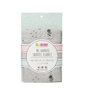 Bamboo Muslin Swaddle Blanket - Grey Space