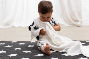 Bamboo Muslin Animal Blanket - White Panda