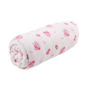 Load image into Gallery viewer, Bassinet Sheet - cream with flowers