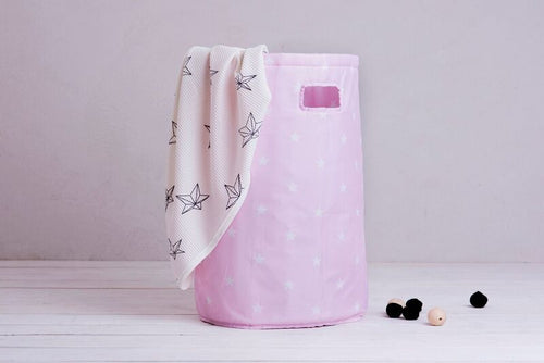 Laundry basket - shiny star pink