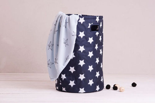 Laundry basket - navy stars