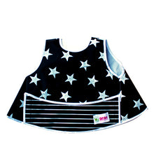 Load image into Gallery viewer, Full vest bib - black & white stars