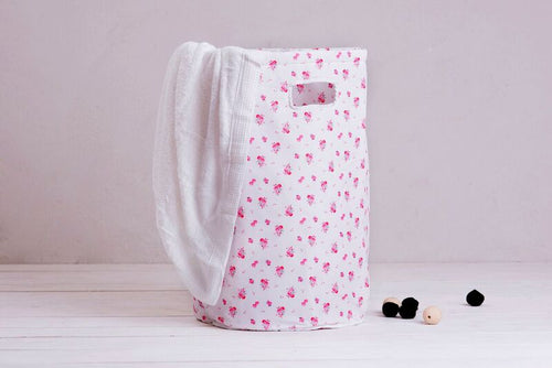 Laundry basket - spring blossom cream
