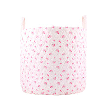 Load image into Gallery viewer, Large storage basket - pink flowers