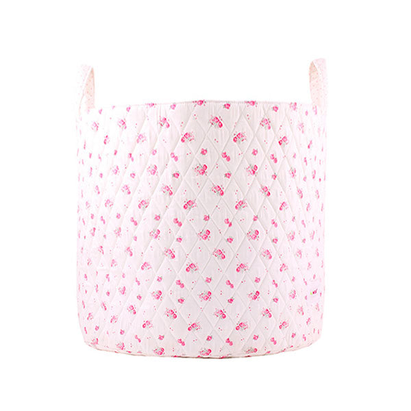 Large storage basket - pink flowers