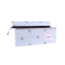 Load image into Gallery viewer, Small storage box - shiny star baby blue