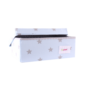 Small storage box - shiny star baby blue