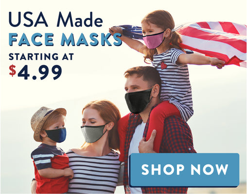 Made in USA face masks banner