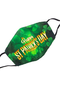 Adjustable Strap Fashion Mask - St. Patty's