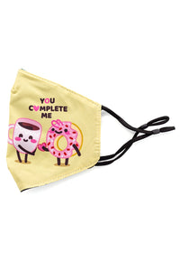 Adjustable Strap Fashion Mask- Coffee and Donut