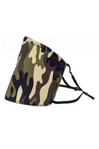Adjustable Strap Fashion Mask w/ Nose Wire-Green Camo