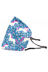 Adjustable Strap Fashion Mask w/ Nose Wire- Unicorn
