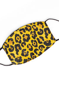 Adjustable Strap Fashion Mask w/ Nose Wire- Cheetah