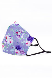 Adjustable Strap Fashion Mask- Purple Orchid
