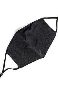 Adjustable Strap Fashion Mask- Solid Black