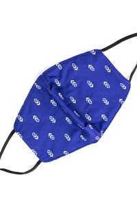 Adjustable Strap Fashion Mask- Blue Arrows