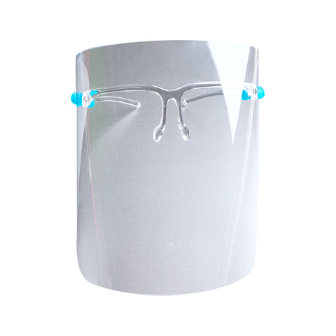 Face Shield with Eyeglasses Frame
