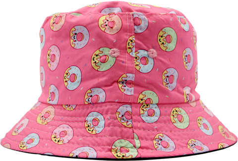 Kids Floppy Bucket Hat with Donuts