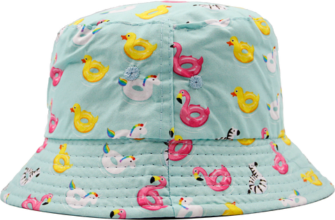 Kids Floppy Bucket Hat with Floats