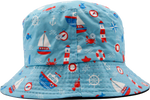 Kids Floppy Bucket Hat Nautical