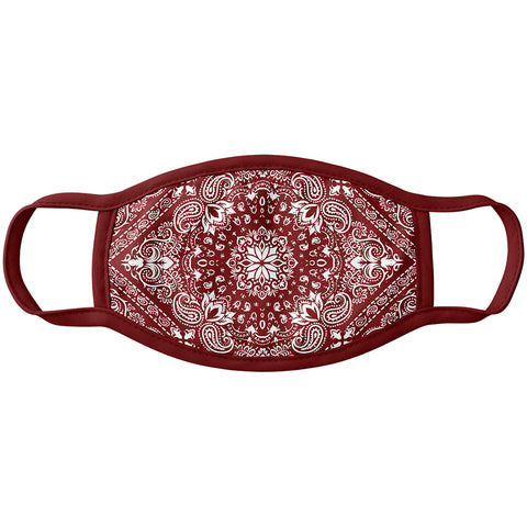 Fashion Mask Burgundy bandana