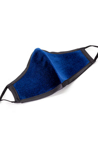 Luxury Adjustable Strap Fashion Face Mask- Blue Velvet