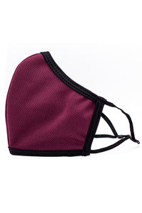 Made in USA Adult Reversible Fashion Mask w/ Adjustable Straps- Burgundy