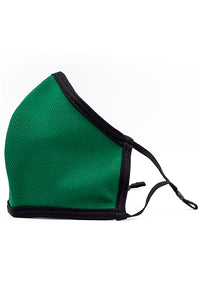 Made in USA Adult Reversible Fashion Mask w/ Adjustable Straps- Green