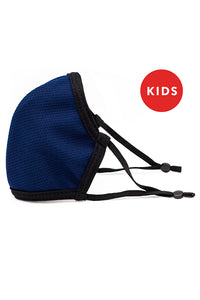 Made in USA Kids Reversible Fashion Mask w/ Adjustable Straps- Navy