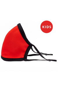 Made in USA Kids Reversible Fashion Mask w/ Adjustable Straps- Red