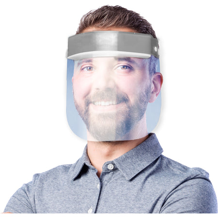 Adults Face Shield Silver