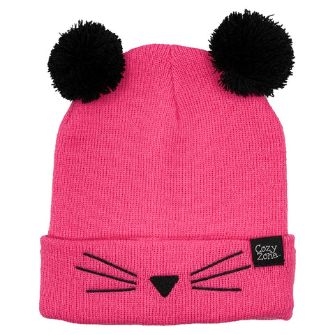 Fashion Beanie Pink Cat