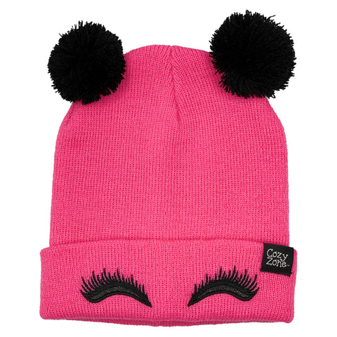 Fashion Beanie Pink Eyelashes