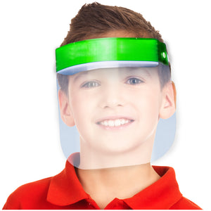 Kids Face Shield Green
