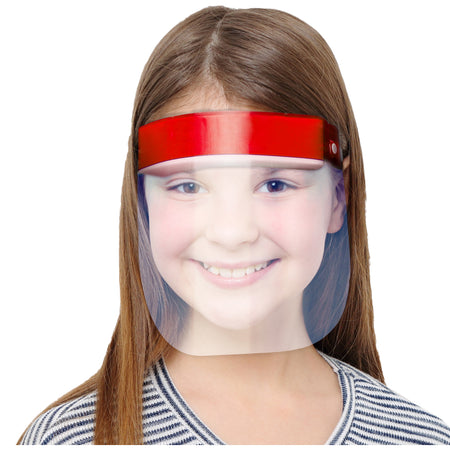 Kids Face Shield Red