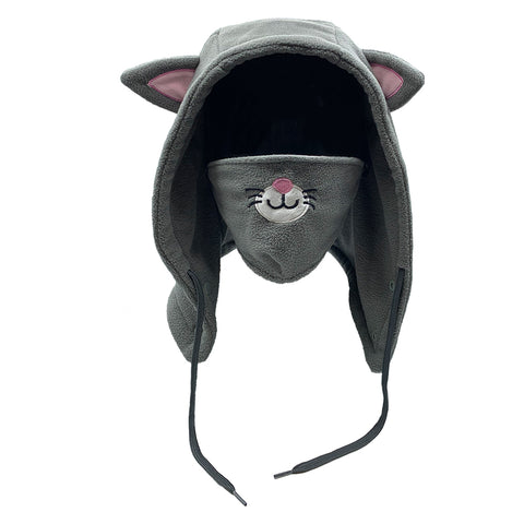 Kids Fleece Hood Cat