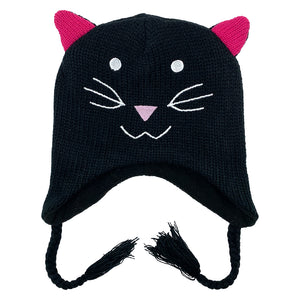 Kids Knit Hat Cat