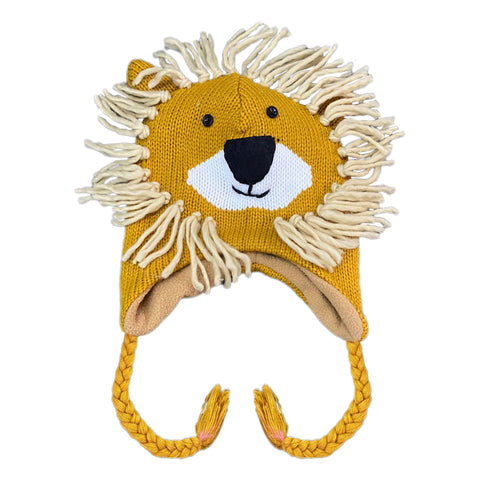 Kids Knit Hat Lion