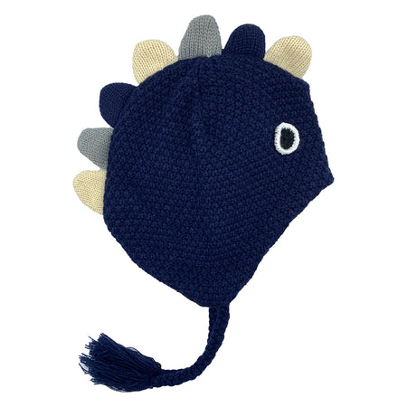 Kids Knit Hat Dino Navy