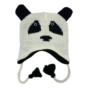 Kids Knit Hat Panda