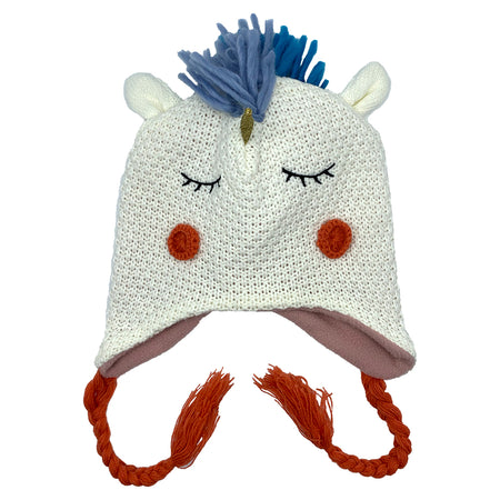 Kids Knit Hat Unicorn
