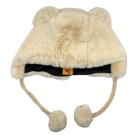 Fashion Hat Bear Series Cream
