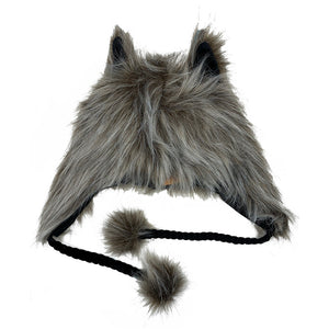 Fashion Hat Wolf Series Brown