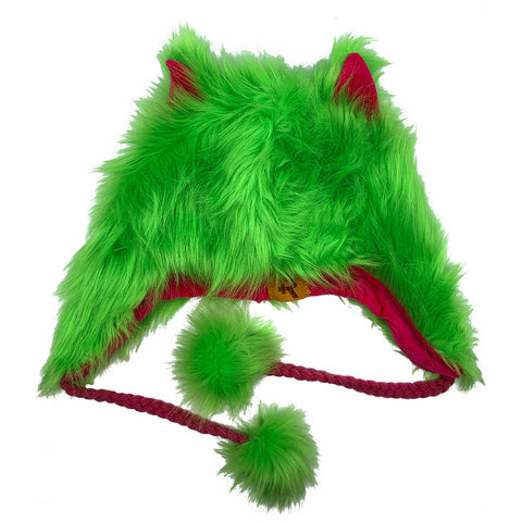 Fashion Hat Wolf Series Green
