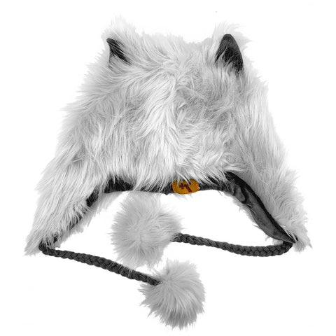 Fashion Hat Wolf Series White