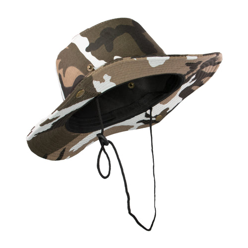 Summer Hat Sol Bucket Hat Camo Brown